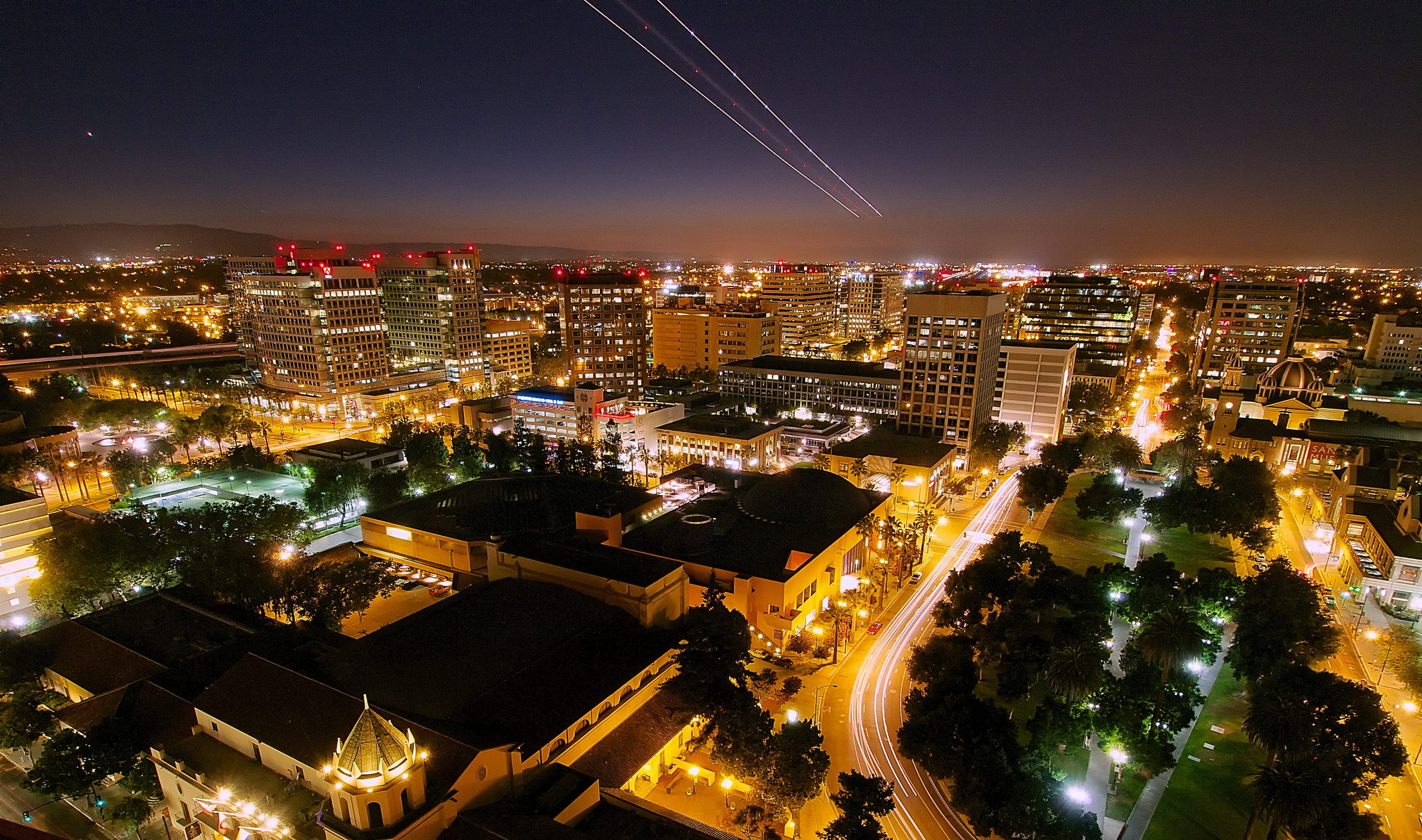 San Jose night scene